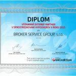 2015 Významný externý partner v sprostredkovaní hypoúverov