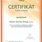 2013 Certifikát kvality predaja